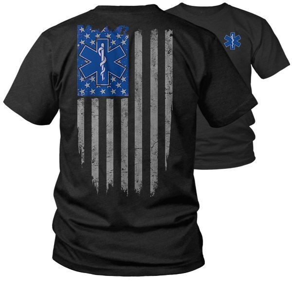 EMT Ghost Flag - First Responder - EMS - Emergency Medical Technician - T-Shirt | Clothing, Shoes & Accessories, Men's Clothing, T-Shirts | eBay!