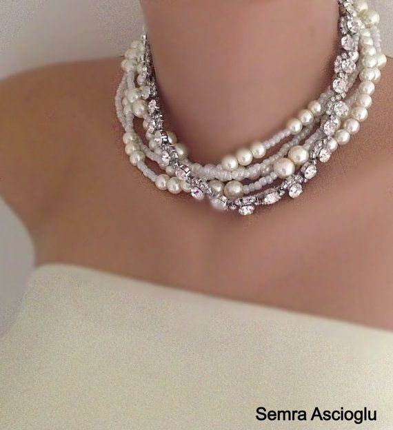 My Bride   Weddings  Pearl Necklace Bridsmaids Gifts on Etsy, $78.00