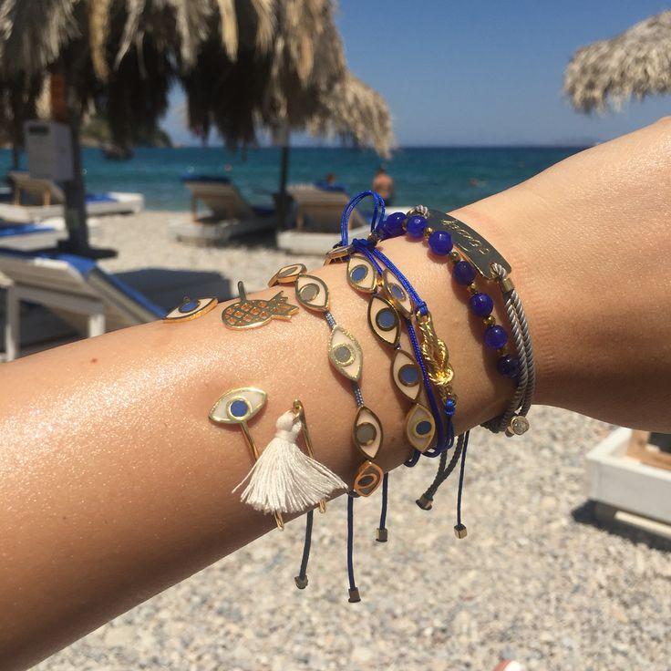 MyLifelikes summer Chamfie  #armcandies #armparty #statement #eyes #summerstyle #fashionstyle #goldstyle #womenstyle #summerlove #travel #greecejewelry