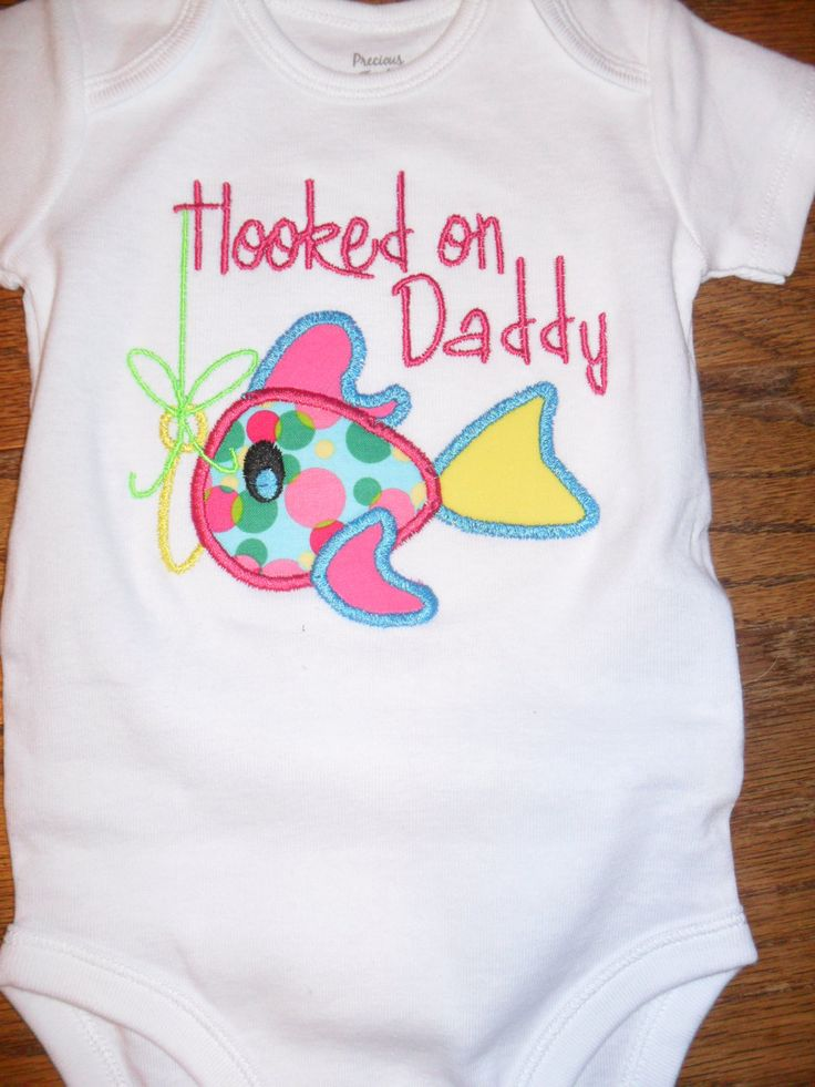 secretly ordered this. matts going to melt.   Boutique+Hooked+on+Daddy+Fish+Applique+by+doodlebugdesigns34,+$18.00