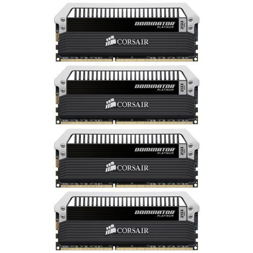 Corsair Dominator Platinum 32GB (4x8GB)  DDR3 2133 MHz (PC3 17000) Desktop Memory (CMD32GX3M4A2133C9). Pin Out: 240-Pin. It's memory with both muscle and finesse. Timing: 9-11-11-31. Format: Dimm. Speed: 2133MHz. Voltage: 1.5V. Intel Xmp 1.3. Variation Attributes: Size(32 GB). The new design will look great in your current system - or your next build - and the user-swappable light bar lets you customize the LED lighting to match your rig. Like all Dominator memory modules, they are...