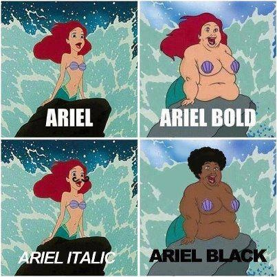 Fonts- and mermaids.