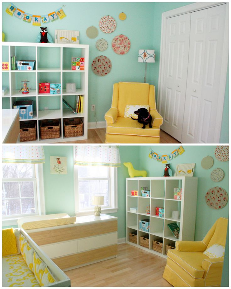 mint & mustard nursery love the color scheme and weenie dogs!!