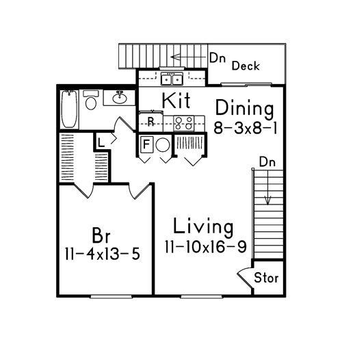 Floor plan for garage with living quarters garage for Garage with living quarters one level