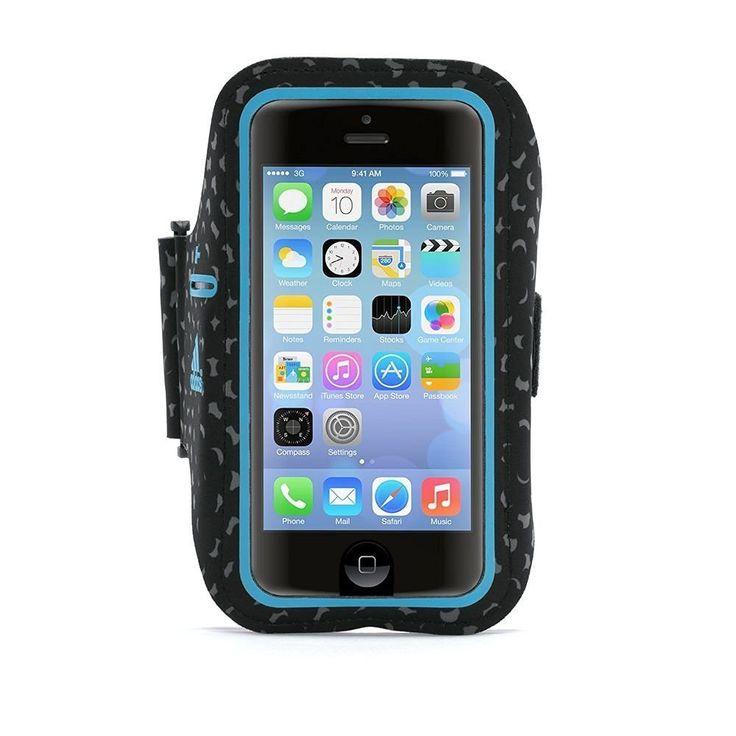 Griffin Adidas Armband - неопренов спортен калъф за ръка за iPhone 5S, iPhone 5, iPhone 5C, iPhone SE (черен-син):… www.Sim.bg