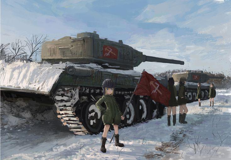 ame sagari,Katyusha,Girls und Panzer,Anime,Аниме