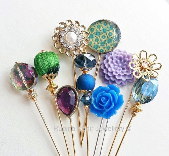 Alexandrite Empress Collection / Hijab Pins / Stick Pin / Cushion Pin / Shawl Pin / Scrap Booking Pins