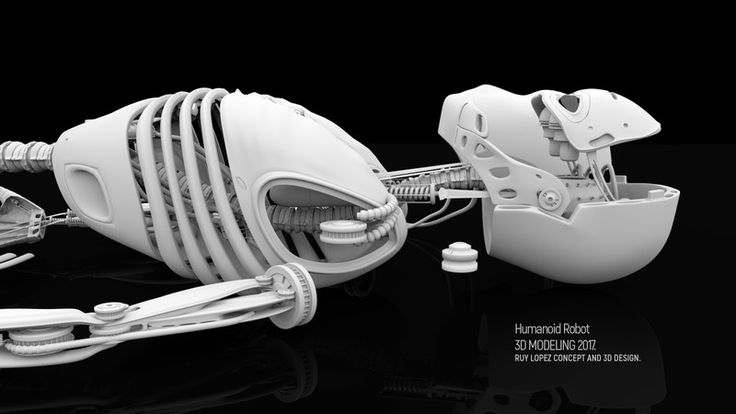 Humanoid Robot 001, Ruy Lopez on ArtStation at https://ruylopez.artstation.com/projects/l8vlk