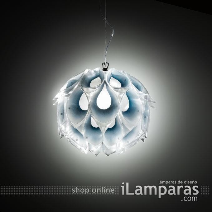 Flora suspension pequeno 1xe27 42w azul (FLO85SOS0001B-000) - Slamp / iLamparas.com