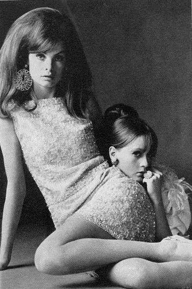 Jean Shrimpton and Celia Hammond by David Bailey, 1967