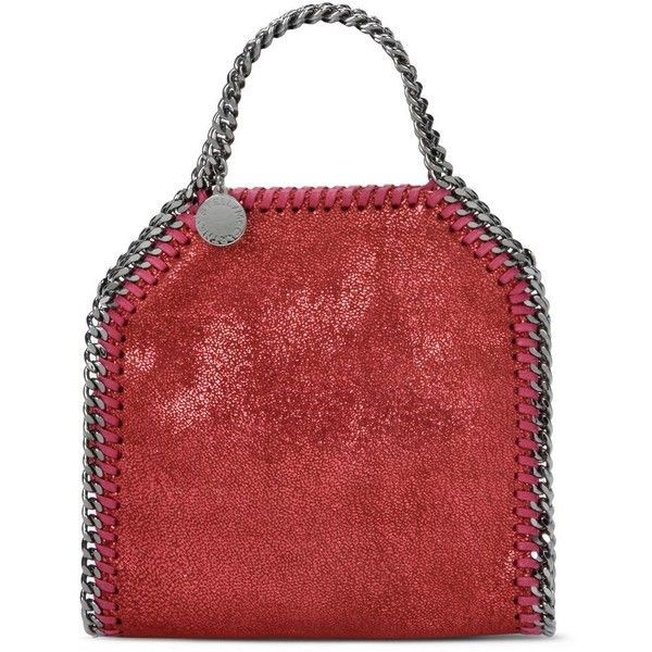 Stella Mccartney Indian Red Falabella Shiny Dotted Chamois Mini Tote ($655) ❤ liked on Polyvore featuring bags, handbags, tote bags, red, red tote handbag, polka dot tote bag, red purse, red tote bag and polka dot purse