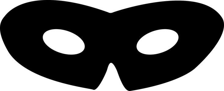 Mascara do Zorro de Papel para Imprimir e Recortar - Carnaval