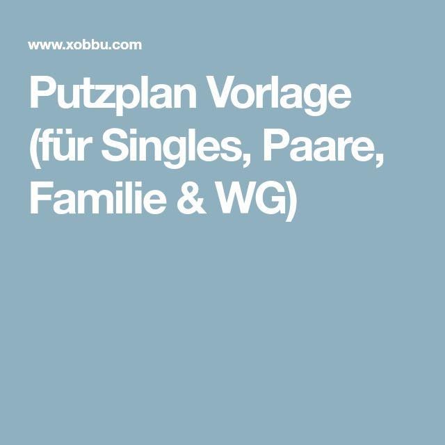 Putzplan Vorlage (für Singles, Paare, Familie & WG)