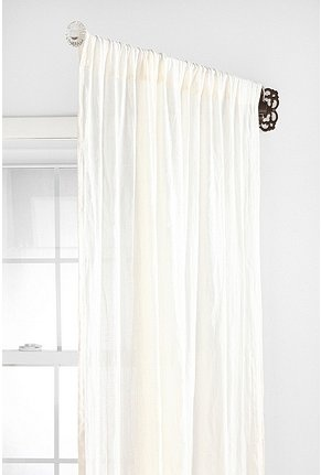 OMG why am I just now learning about a swinging curtian rod?!?!:  Glass Knob Ornate Swing Curtain Rod  Online Only    $19.99(Was $29.00)