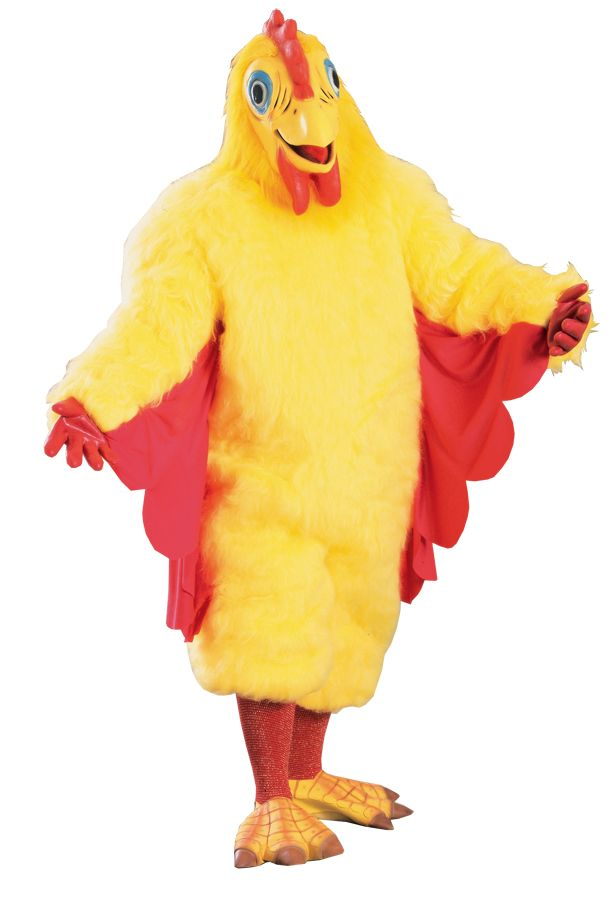 All In One Yellow Plush Chicken Cockrel Child Fancy Dress Party Costume