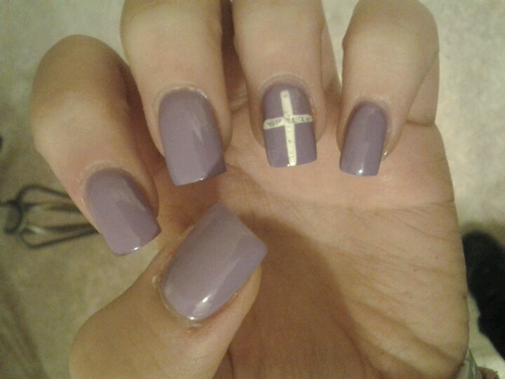 Nails with cross