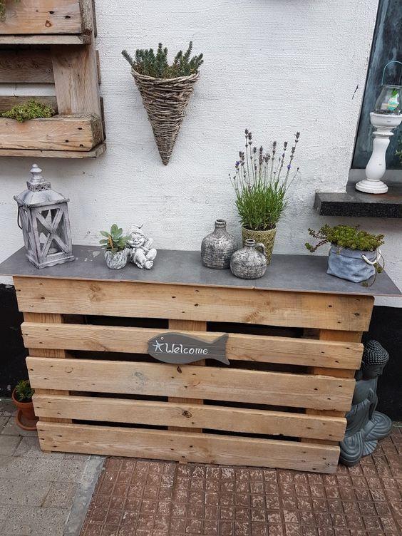 10 projetos da pálete da madeira de DIY – decoração do balcão