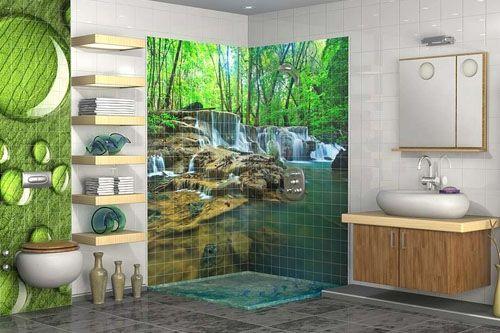 Banyo 3D Cam Mozaik  BNY  1735 -2