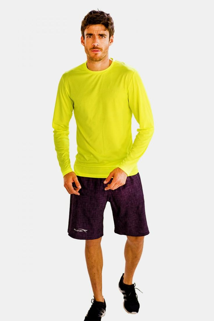 Amazon.Com  Offers Chic Neon Yellow Full-Sleeve #Fitness #Tees for Men.. Buy Today!!