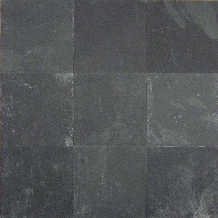 "Black Slate Flooring: Montauk Black 12x12x3/8"" Gauged"