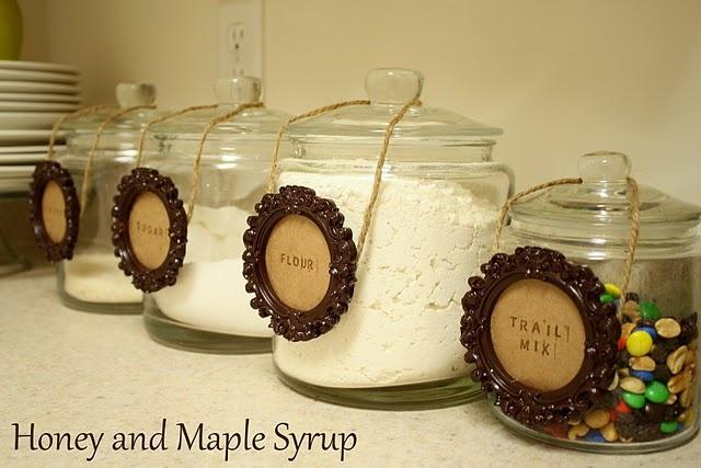 diy kitchen jars | Home Confetti: DIY Framed Canister Labels