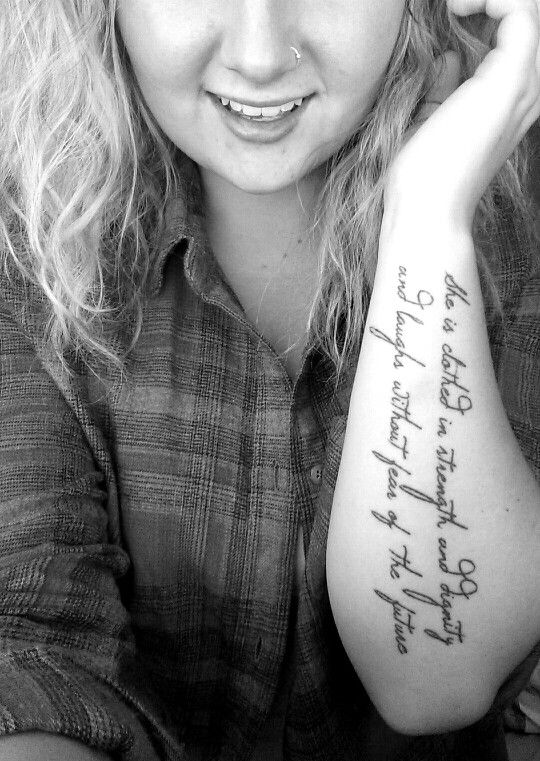 1000 ideas about proverbs 31 tattoos on pinterest for She is clothed in strength and dignity tattoo