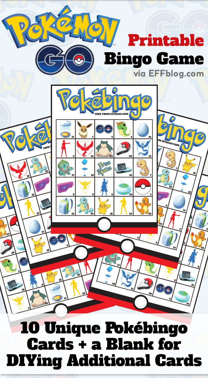 Pokémon GO: PokéBingo Printable Bingo Game featuring favorite elements from the…
