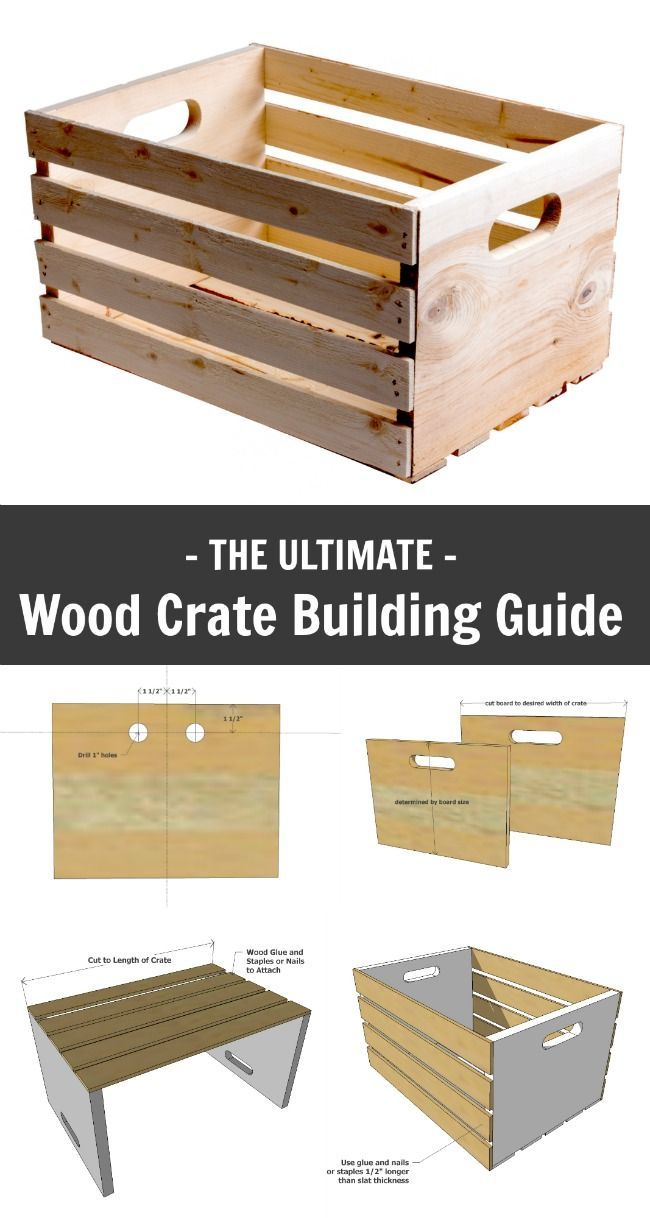 Ana White Wood Crate Building Guide Diy Projects Carpentry Projects Wood Plans Easy Woodworking Projects