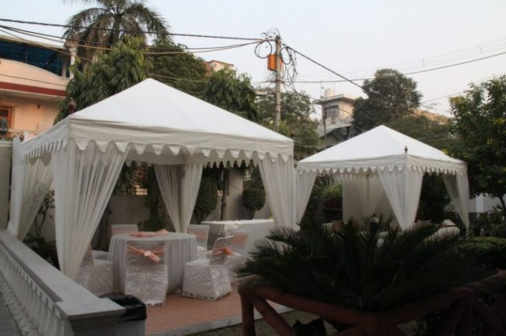 Nothing can beat some extra space for a party, so create an extra space for sitting in the backyard with a Cupola tent from Sangeeta International