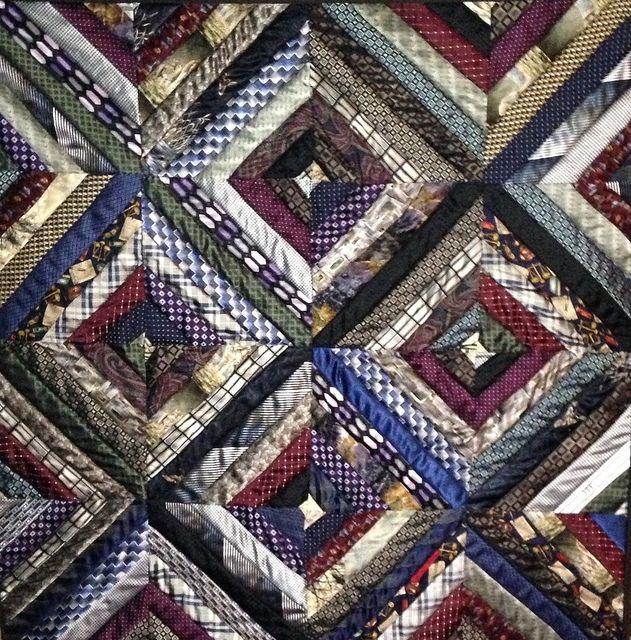 56 best Necktie Quilts images on Pinterest | Necktie quilt, Ties ... : silk tie quilts patterns - Adamdwight.com