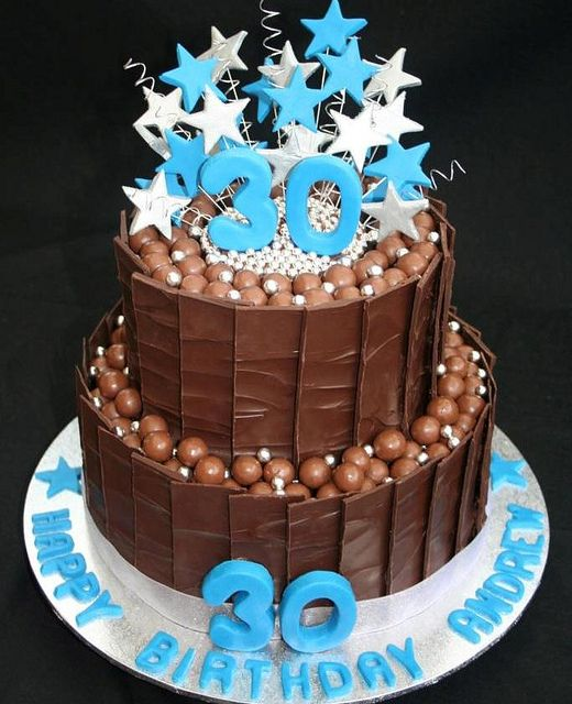 Chocolate Cake idea...30th birthday cake, maltesers cake