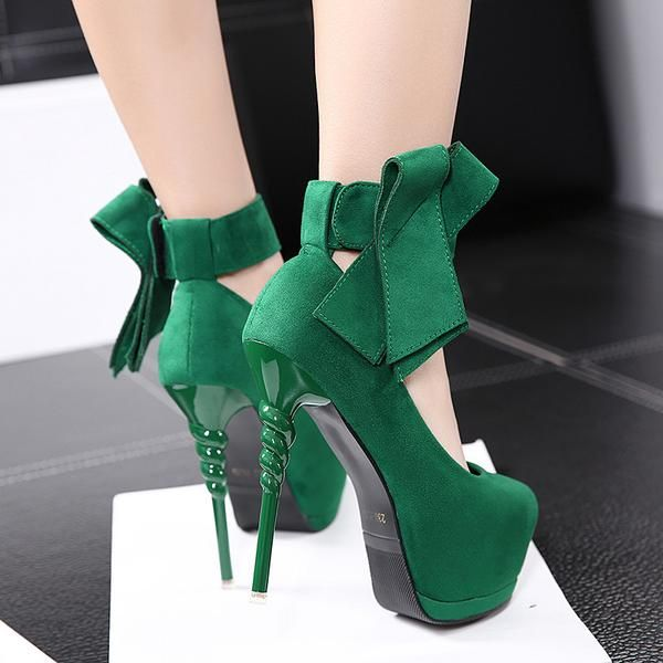 Bowtie Sexy Thin High Heel Pumps Top Quality Shoes