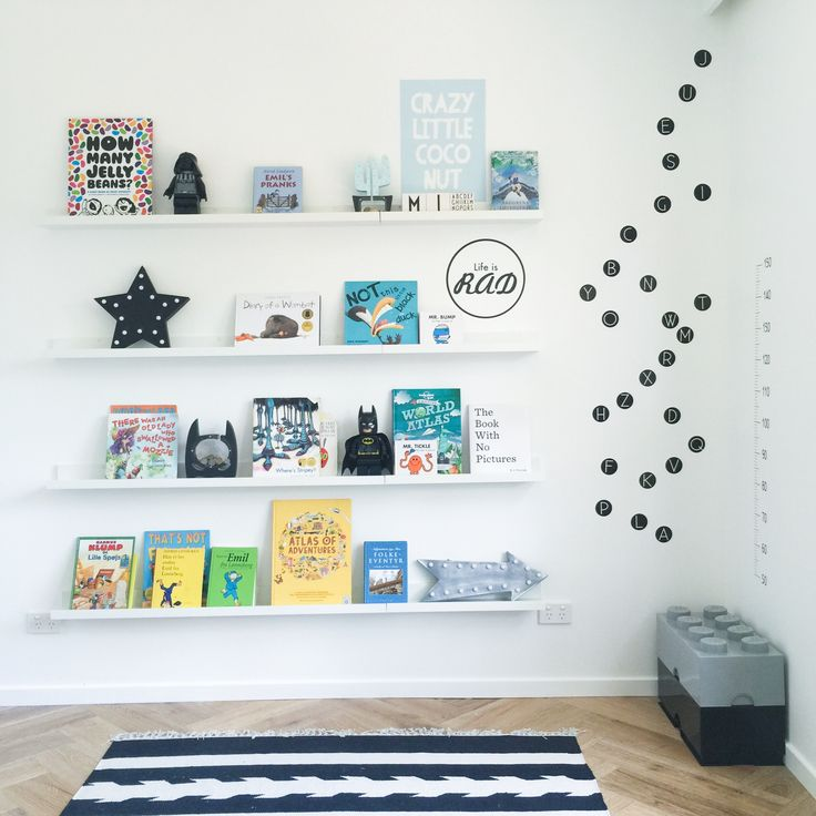 Cool room showing off alphabet wall sticker dots. Removable and reusable