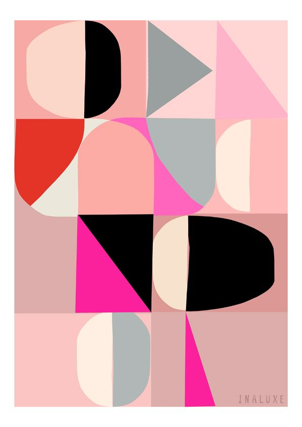 Incredible prints from INALUXE. I want all of them > image of Soirée - abstract print.