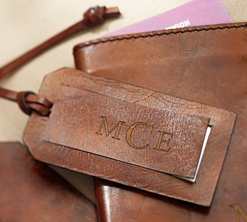 Saddle Leather Luggage Tag Pottery Barn 가죽공예