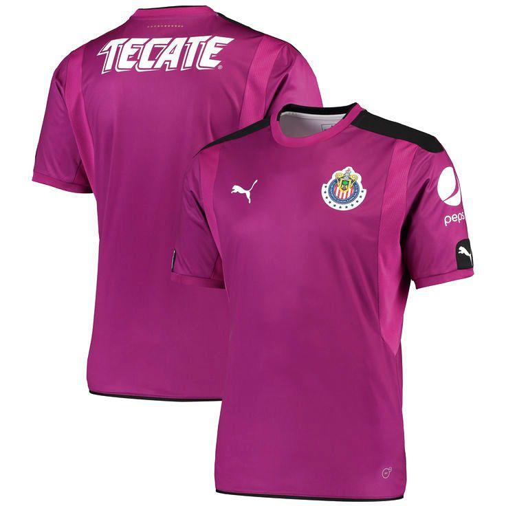 Chivas Puma 2016/17 Home Goalkeeper Replica Jersey - Purple/Black - $94.99