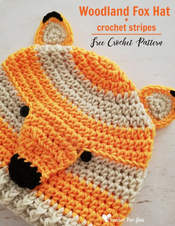 Crochet Woodland Fox Hat Free Pattern – crochet free patterns