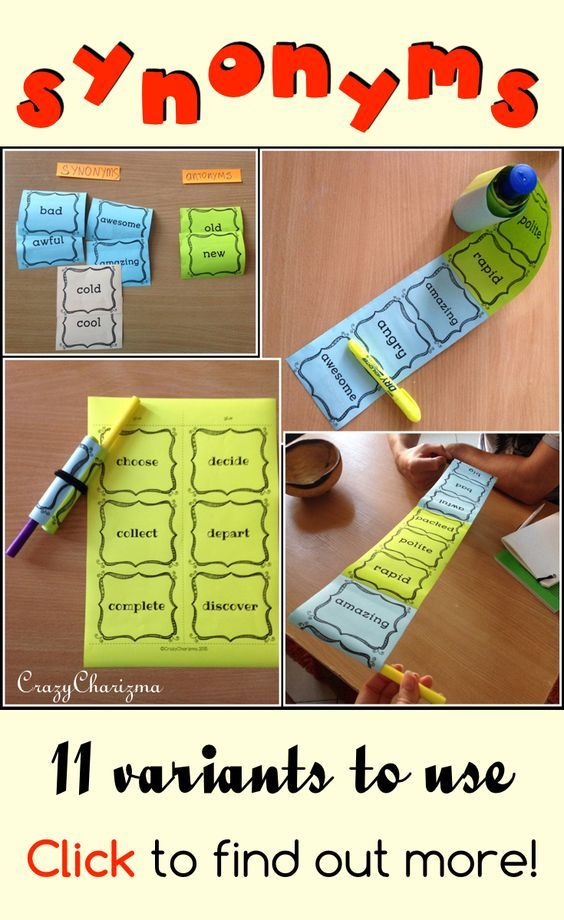 The Synonyms practice teaching resource contains 91 pages with cards. Find inside engaging and interactive synonyms activities - 11 variants how to use cards with 360 words!!! Your kids will definitely love synonyms after these fun activities! (L.4.5C, L.5.5C) $