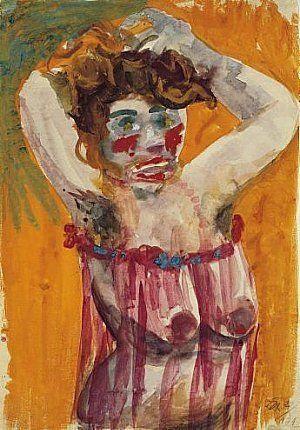 'Lady' (1922) by German artist Otto Dix (1891-1969). via Expressionismus in Deutschland