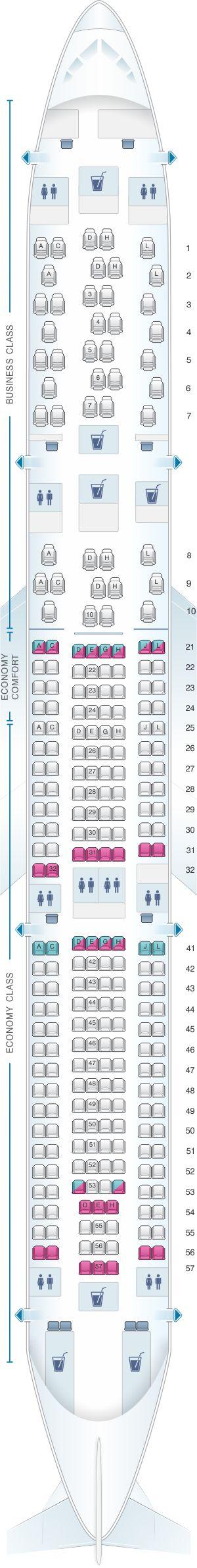 Seat Map Finnair Airbus A330 300 263PAX