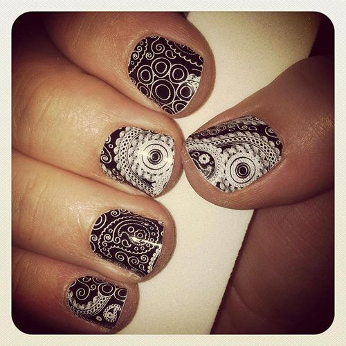 Paisley Nail Art: 71 Best Images About Paisley Nails On Pinterest