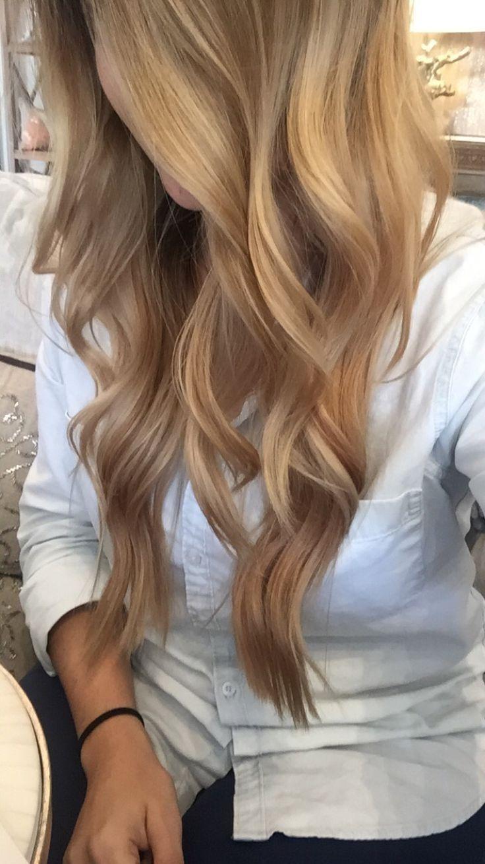Dunkel Blonde Haare Mit Honig Highlights Frisuren
