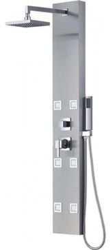 """Full-Body Massage Shower Panel With Handheld Shower, 57"""" contemporary-shower-panels-and-columns"""