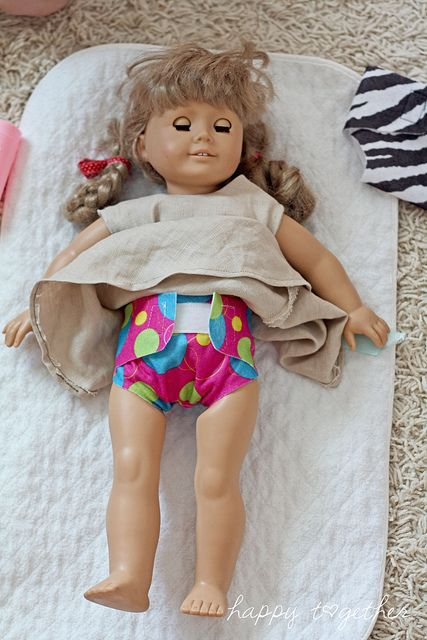 DIY baby doll diapers. MUST make these for my girl!