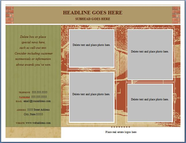 Half Page Flyer Template Word, Excel  PDF Templates Templates