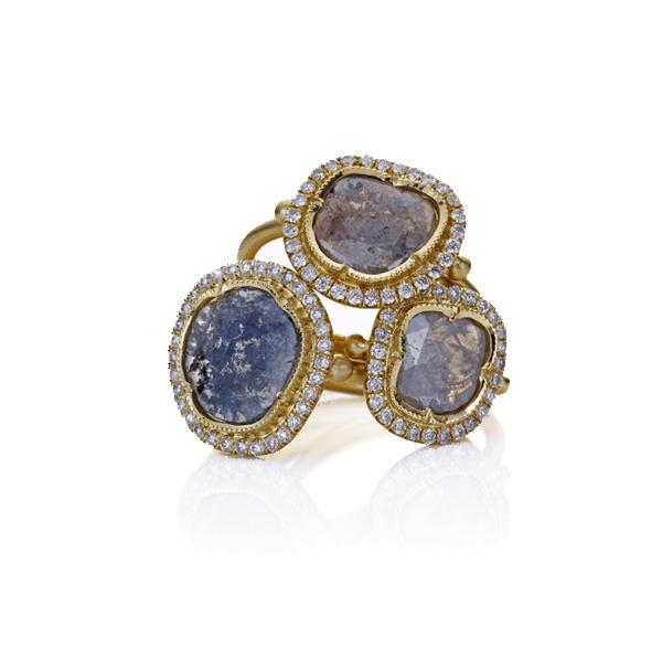 Brooke Gregson - Diamond Pave Shield Rings.  So gorgeous!