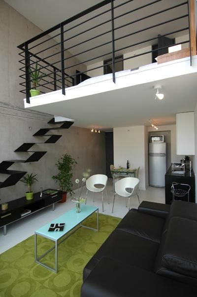 "Chilean loft in Providencia Santiago (this is the ""sale"" model). I love the stairs."