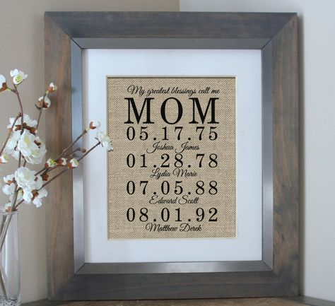 Personalized Mother's Day Gift Gift for Mom by EmmaAndTheBean