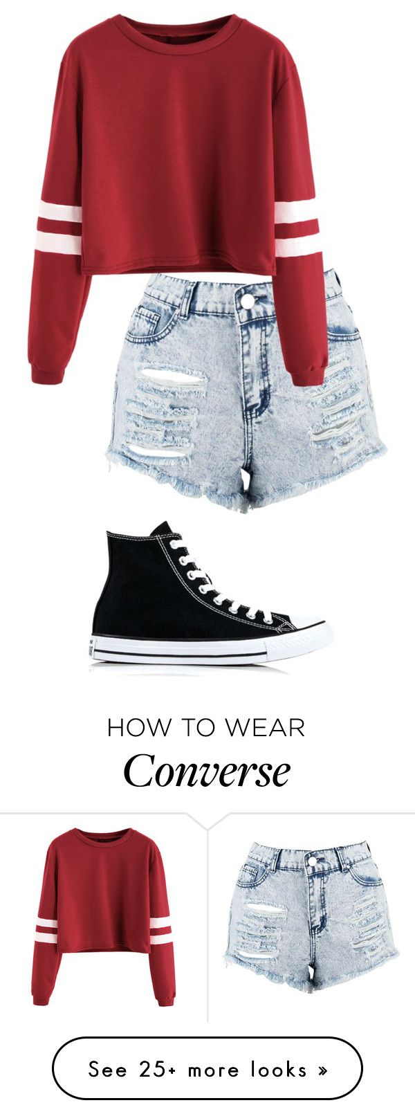 """Sporty Summer"" by photogeekgirl on Polyvore featuring Boohoo and Converse"