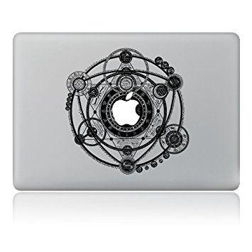 """Vati Leaves Art amovible signe Mysterious vinyle autocollant Decal noir pour Apple Macbook Pro Air Mac 13 """"15"""" inch / Unibody 13 """"15"""" pouces pour ordinateur portable"""